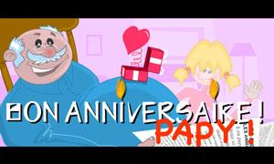 Bon Anniversaire Papy - Fille