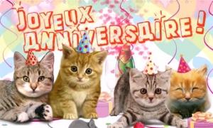 4 petits chats pour ta fête