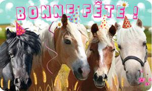 Bonne fête - Poney