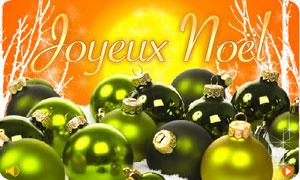 Joyeux Noël - boules vertes