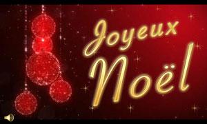 Joyeux Noël - boules scintillantes