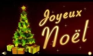 Joyeux Noël - sapin scintillant