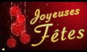 Joyeuses fêtes - boules scintillantes