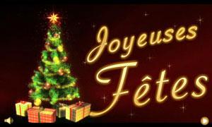 Joyeuses fêtes - sapin scintillant