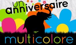 Anniversaire multicolore