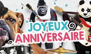 Des animaux et un concert pour un anniversaire déjanté !