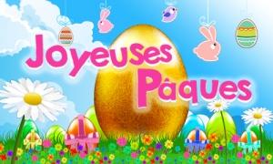 Des fleurs, des oeufs et de belles décorations de Pâques