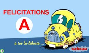 Félicitations pour le permis
