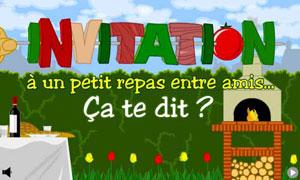 Cartes invitation diner virtuelles gratuites for Idee repas diner entre amis