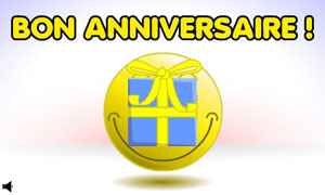 Smiley - Bon anniversaire