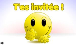 Smiley - Tu es invitée