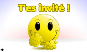Smiley - Tu es invité
