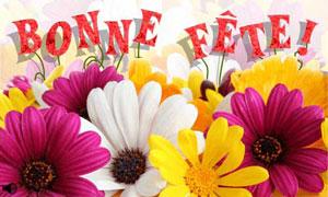 Bonne fête avec des fleurs