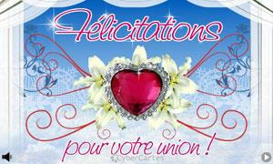 Félicitations pour votre union