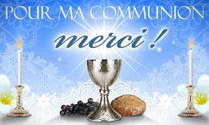 Pour ma communion - Merci