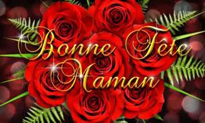 De belles roses rouges pour toi maman
