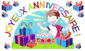 Un beau dessin pour ton anniversaire