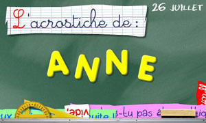 Acrostiche Anne