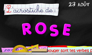 Rose - 23 août