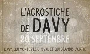 Davy - Acrostiche