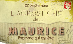 Acrostiche Maurice