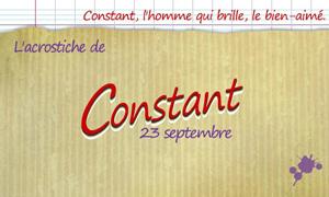 Acrostiche Constant