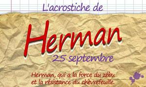Acrostiche Herman