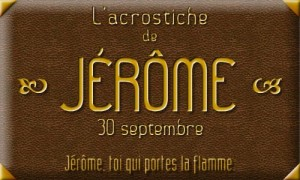 Acrostiche Jerome