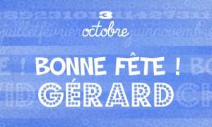 Gérard - 3 octobre