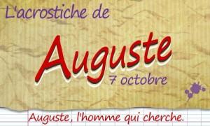 Acrostiche Auguste