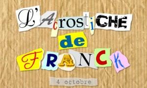 Acrostiche Franck