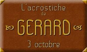 Acrostiche Gérard