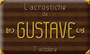 Acrostiche Gustave