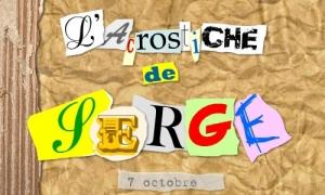 Acrostiche Serge