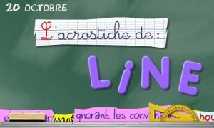 Acrostiche Line - 20 Octobre