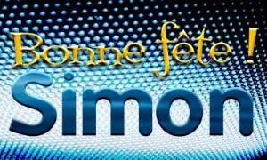 Bonne fête Simon