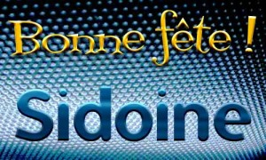 Sidoine - 14 novembre