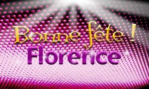 Bonne fête Florence