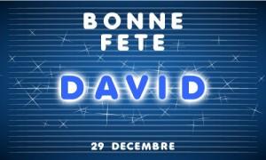 Bonne fête David