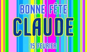15 février, fêtons les Claude