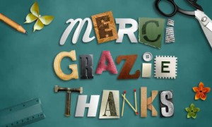Merci - Grazie - Thanks