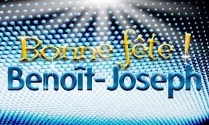 Benoît-Joseph - 16 avril