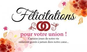 Cartes f licitations mariage gratuites - Texte felicitation mariage humour ...