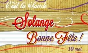 Solange - 10 mai