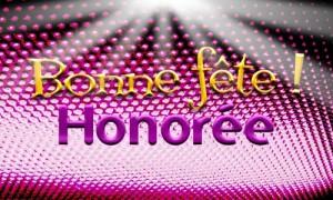 Honorée - 16 mai