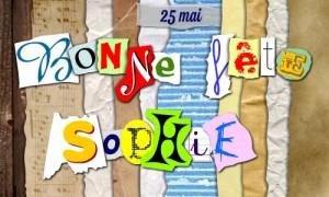 Bonne fête Sophie