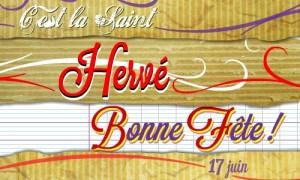 Bonne fête Hervé