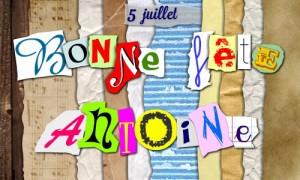 Bonne fête Antoine