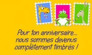Un anniversaire timbré