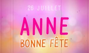 Anne - 26 juillet